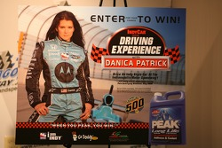 Danica Patrick ad during a Peak Antifreeze press conference