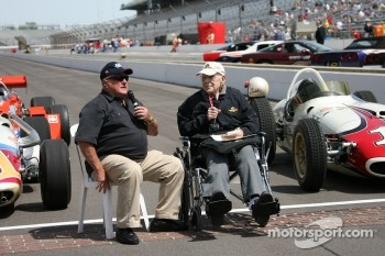 A.J. Foyt talks with Tom Carnegie