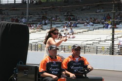 Ashley Judd is pleased with Dario Franchitti's performance