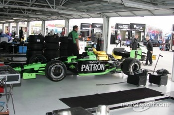 Rahal Letterman Racing garage area