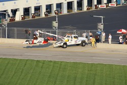 Sam Hornish Jr. in trouble