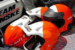 Team Penske team member helmets