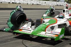 Tony Kanaan in the pits