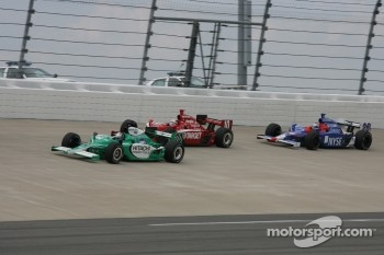 Ed Carpenter, Dan Wheldon and Marco Andretti