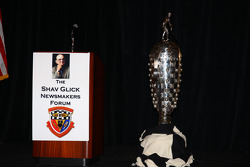 The Borg-Warner Trophy on display during the Shav Glick Newsmakers Forum at the AARWBA Auto Racing All-America Team Banquet