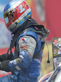 Jack Beckmam moments after defeating John Force during round two of the Southern Nationals
