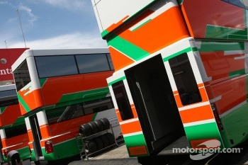 Force India F1 Team trucks