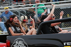 the full throttle girls riding by the grand stands