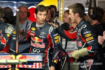 Mark Webber, Red Bull Racing on pole