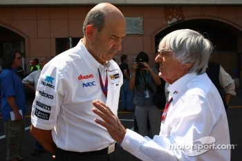 Peter Sauber, Sauber F1 Team, Team Principal with Bernie Ecclestone