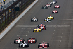Josef Newgarden, Sam Schmidt Motorsports and Anders Krohn, Belardi Auto Racing battle for the lead