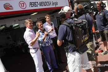 David Coulthard and Eddie Jordan, BBC TV