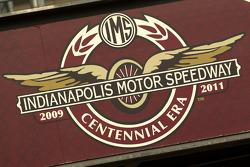 Indianapolis Motor Speedway centennial era signage