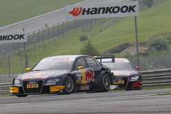 Miguel Molina, Audi Sport Team Team Abt Junior, Audi A4 DTM leads Mattias Ekström, Audi Sport Team Abt Sportsline Audi A4 DTM