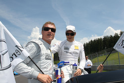 David Coulthard, Mücke Motorsport, AMG Mercedes C-Klasse and Gary Paffett, Team HWA AMG Mercedes C-Klasse
