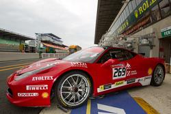 A Ferrari 458 Challenge car