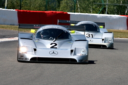 The Mercedes C11 duo, #2: Christian Glaese; #31: Gareth Evans, Bob Berridge