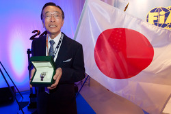 ACO press conference: professor Yoshimasa Hayashi receives the Spirit of Le Mans award