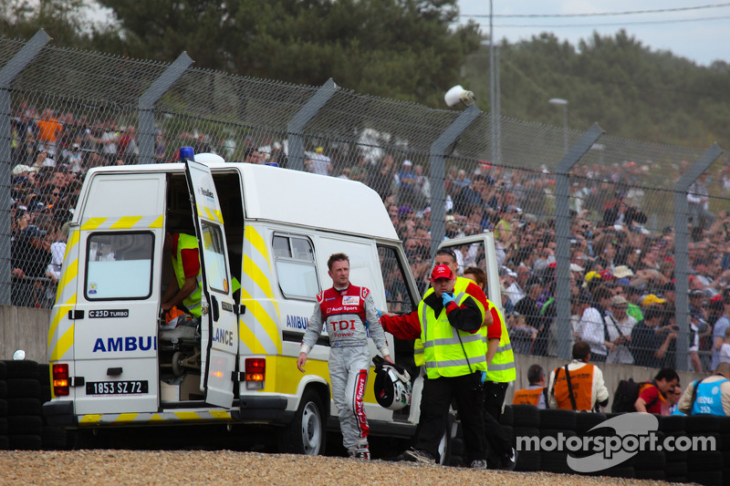 Allan McNish after his crash