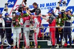 LMP1 podium: race winners Marcel Fssler, Andre Lotterer, Benoit Trluyer, second place Pedro Lamy, Simon Pagenaud, Sbastien Bourdais, third place Nicolas Minassian, Franck Montagny and Olivier Quesnel