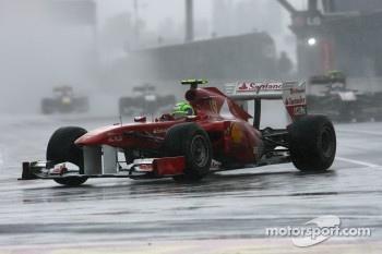Massa was the fastest Ferrari driver in the rain