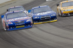 Bobby Labonte, JTG Daugherty Racing Toyota and Brad Keselowski, Penske Racing Dodge