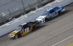 Kyle Busch, Joe Gibbs Racing Toyota and Carl Edwards, Roush-Fenway Ford 