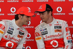 Pedro de la Rosa, Test driver, McLaren Mercedes and Jenson Button, McLaren Mercedes