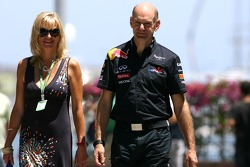 Adrian Newey, Red Bull Racing, Technical Operations Director and his wife