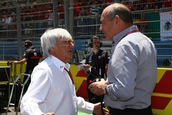 Bernie Ecclestone with Ron Dennis