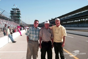 Ken Hamilton (Davey's Dad), Bill Vukovich, and Gary Bettenhausen enjoy the tradition of the Speedway