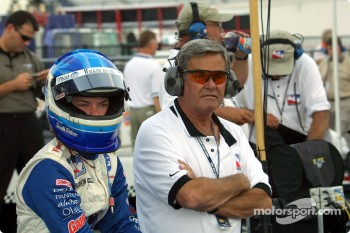 Sarah Fisher and Al Unser