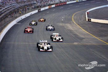 Race action: Al Unser Jr.