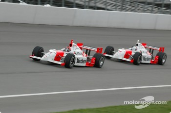 Helio Castroneves and Gil de Ferran