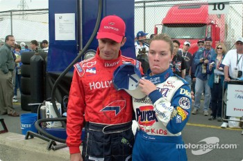 Felipe Giaffone with Sarah Fisher