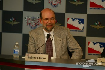 American Honda Motor Co., Inc. announcing plans to enter the Indy Racing League for the 2003 season competition: Robert Clark, GM of Honda Performance Development
