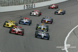The start: Vitor Meira and Al Unser Jr. lead the field