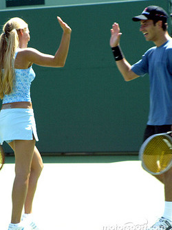 Helio Castroneves and WTA tennis star Anna Kournikova