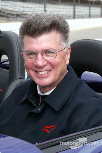 GM Racing Executive Director Herb Fishel, driver of the Chevy SSR Pace Vehicle
