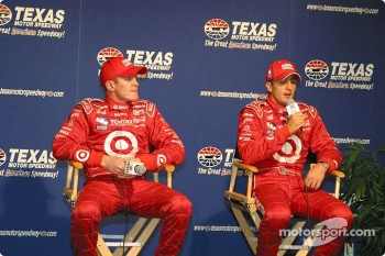 Press conference: pole winner Tomas Scheckter with Scott Dixon