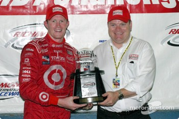 Scott Dixon and team owner Chip Ganassi