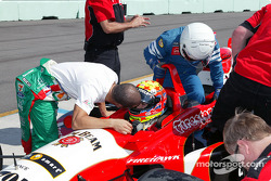 Tony Kanaan and Dan Wheldon