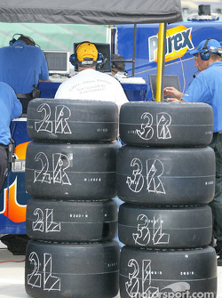 Marked tires