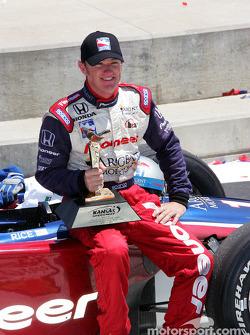 Victory lane: race winner Buddy Rice