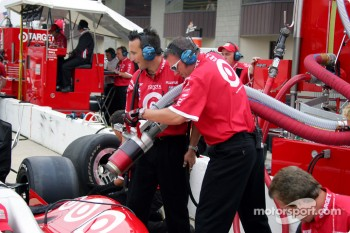 Pitstop practice at Ganassi Racing
