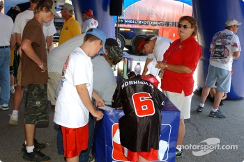 Fans at Michigan International Speedway