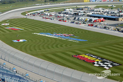A bird eye view of Chicagoland Speedway