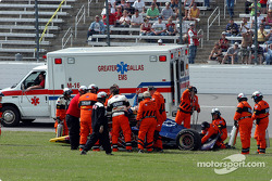 Alex Barron out of the car