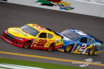 Kurt Busch, Penske Racing Dodge, Brad Keselowski, Penske Racing Dodge