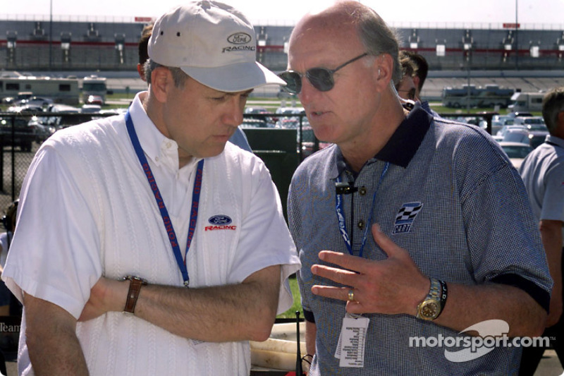 Dan Davis, Director, Ford Racing Technology, in conversation with CART CEO Joe Heitzler